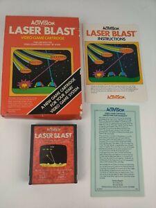 Vintage-Laser-Blast-by-Activision-for-Atari-2600-CIB-box-manual-game