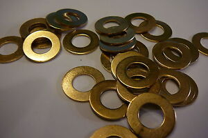M10 BRASS WASHERS SOLID BRASS (10mm WASHERS 25-PACK)