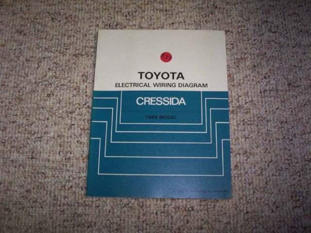 1988 Toyota Cressida Electrical Wiring Diagram Manual Std