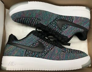 official photos 248bf 5d3df Details about Nike Air Force 1 Ultra Flyknit Low Blue Lagoon Black Green  Pink Sz 10