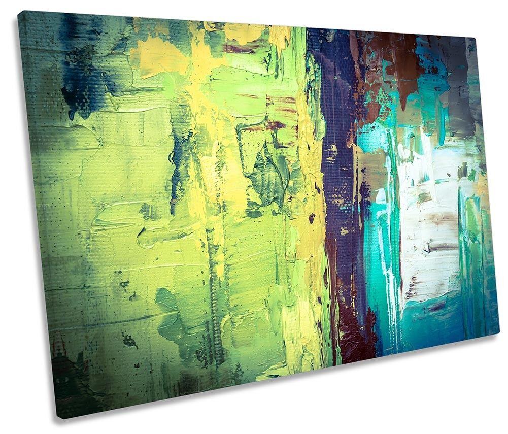Abstract Grunge Grün Framed SINGLE CANVAS PRINT Wall Art