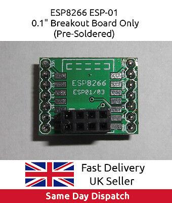 """ESP8266 ESP-01 Wi-Fi WIFI Wireless, 0.1"""" Proto / Breakout / Bread Board, UK FAST"""