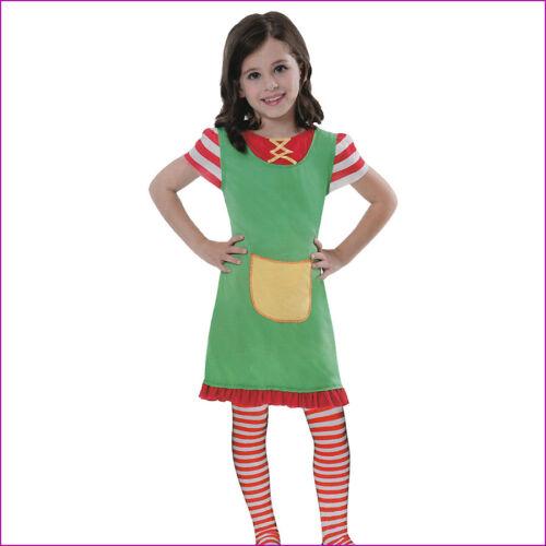 KINDER FRECHE GÖRE KLEID # Karneval Fasching Buntes Mädchen Kostüm Clown 3197
