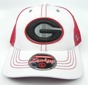 GEORGIA-BULLDOGS-RED-NCAA-2-TONE-WHITEBOARD-TRUCKER-SNAPBACK-Z-CAP-HAT-NWT