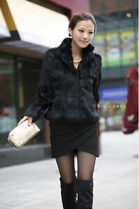 100 Real Over Vinter Mode Rabbit Damer Dame Stil Coat Varm Fur Kort rrFqwS