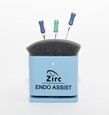 Dental Endodontic Assist Organizer With Measuring Gauge Autoclavable Blue