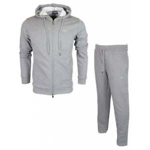 Emporio-Armani-Cotton-Zip-Up-Hooded-Grey-Tracksuit
