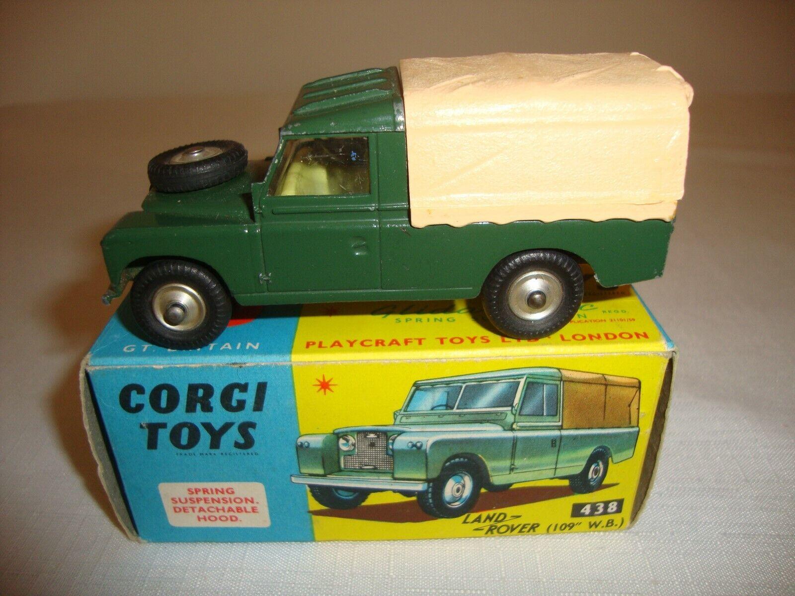 Corgi 438 Land Rover 109 WB-muy Buenas En Caja Original