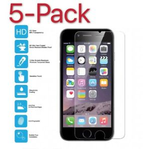 5-Pack For iPhone 12 Pro 6 7 8 Plus 11 Xs Max XR Tempered GLASS Screen Protector