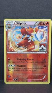 Pokemon-Tarjeta-Delphox-Liga-Promo-Reverse-Foil-casi-Nuevo