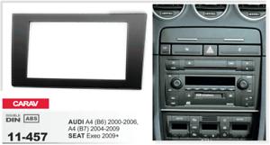 B6 2004-2009 // Seat Exeo 2009-2013 CARAV 11-457 2-DIN Marco de pl/ástico para Radio para Audi A4 2000-2006 B7 A4