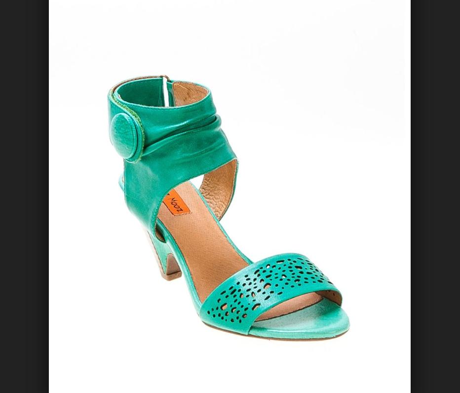 Miz Mooz WINONA Ankle Green Leather Sandal Heel Sz 10