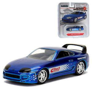 Jada-1-64-JDM-Tuners-Die-Cast-1995-Toyota-Supra-Car-Blue-Model-Collection