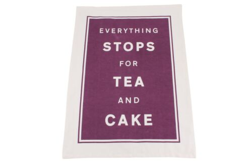 Everything Stops For Tea and Cake Tea Towel