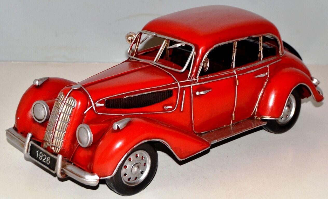 Car Oldtimer um 1939 Tin Car Sheet Metal Model Tin Model Vintage Car 32 cm 37700