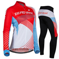Womens Road Bike Team Clothing Long Sleeve Jersey Pants Kits Riding Outfits Suit