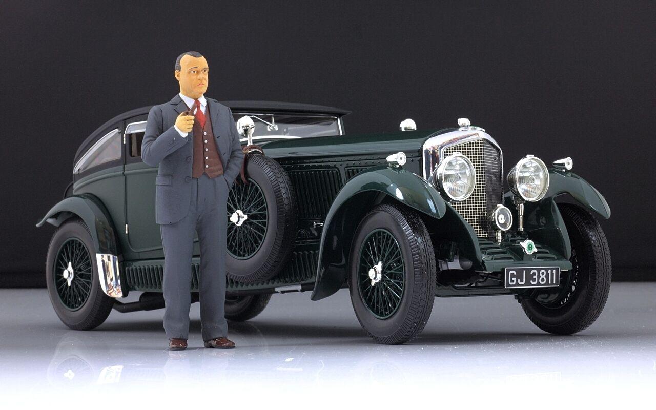 W.O. Bentley Figure pour 1 18 Blower bleu Train Minichamps PMA Very RARE