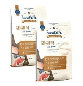 2 x 10 kg de nourriture pour chats Sanabelle Sensitive Lamb pour les agneaux ***