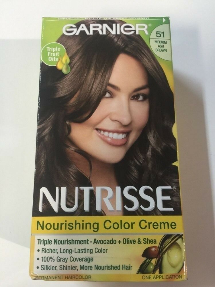 Garnier Nutrisse Nourishing Color Creme 51 Medium Ash Brown Cool