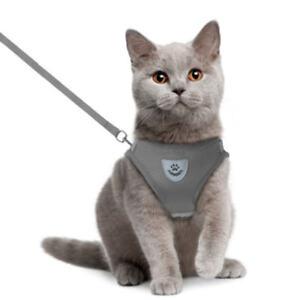 EG-PUPPY-KITTEN-CAT-WALKING-HARNESS-LEAD-LEASH-COLLAR-ADJUSTABLE-DOG-PET-VEST-F