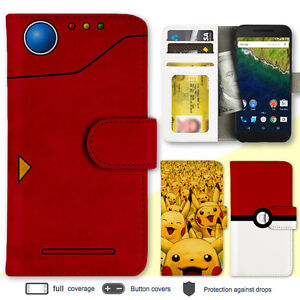 separation shoes 59dd7 87865 Details about Huawei P9 Nexus 6P 5X Pokemon Print Wallet Leather Flip Cover  Case for LG Google