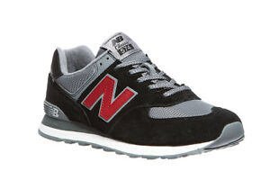 New-Balance-ML574-klassische-Schuhe-Herren-Sneaker-Turnschuhe-Schwarz-Grau