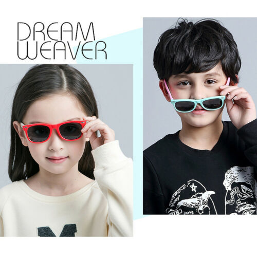 Cute TPEE Rubber Flexible Kids Polarized Sunglasses Boys Girls Outdoor Glasses