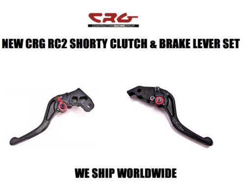 CRG BLACK RC2 SHORTY CLUTCH /& BRAKE LEVER SET 09-14 YAMAHA R1 R 1 R-1