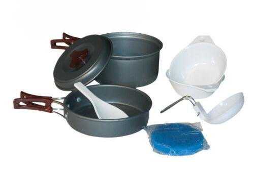 Aluminium Eloxiert Campinggeschirr Camping Mil-Tec Kochgeschirr Kochset 2 Pers