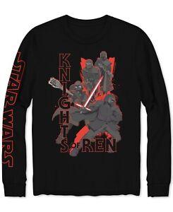 STAR-WARS-Mens-T-Shirt-Black-Size-Large-L-Knights-of-Ren-Long-Sleeve-Tee-30-136