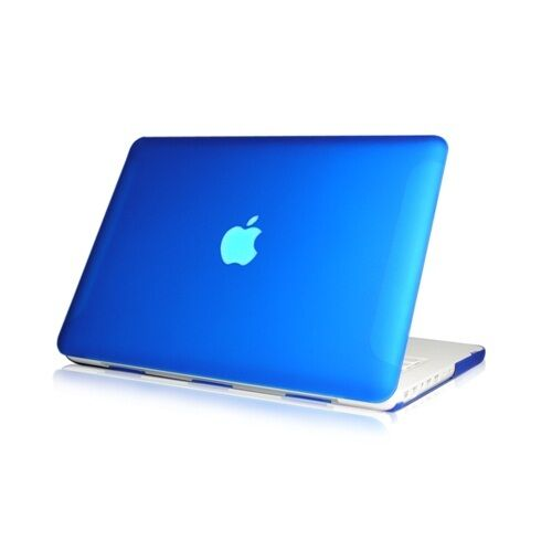 """NEW Rubberized Royal Blue Hard Case Cover for Macbook White 13""""  A1342"""