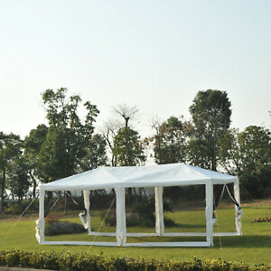 Outsunny-10ft-x-20ft-Canopy-Gazebo-Party-Tent-w-Mesh-Side-Walls