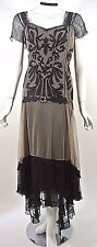 Gatsby Style dresses Nataya XL Downton Abbey Vintage look Victorian Black/Beige
