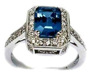 NEW-2-50CT-LONDON-BLUE-TOPAZ-EMERALD-CUT-DIAMOND-ENGAGEMENT-RING-14K-WHITE-GOLD