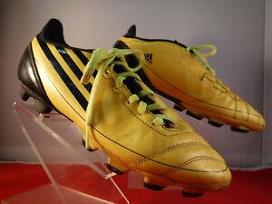 Garantizar propietario mirar televisión  PFR para hombre Adidas F50 Adizero Amarillo Negro Balonpié Fútbol Tacos  Zapatos 7.5   eBay