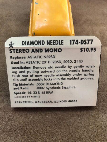 Hete Verkoop Vintage Nos Pfanstiehl Turntable Needle Part # 174-ds77