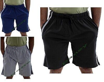 Pantaloncini da uomo Lounge Twin Pack Stretch Jersey Sonno Notte Abito Pigiama Pj Bottoms