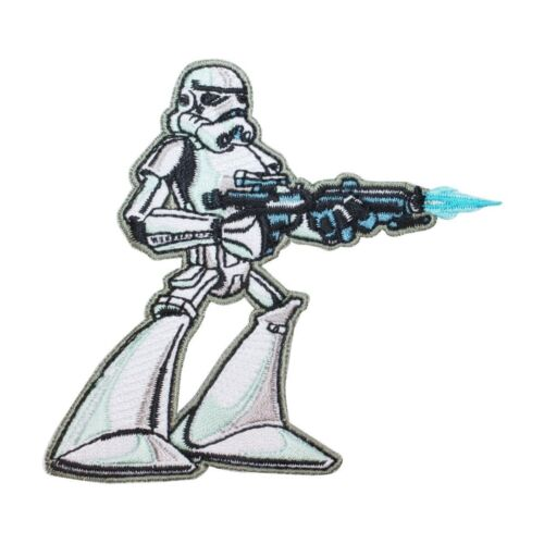 Disney Star Wars Cartoon Stormtrooper Patch Officially Licensed Iron On Applique