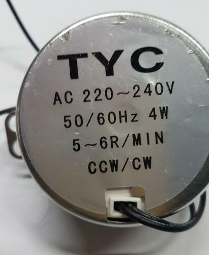 Motoriduttore   220 v  AC   5 GIRI//M ALTA COPPIA