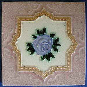 Tile-Vintage-Glazed-Rose-Majolica-034-Old-Raj-034-Style-15x15cm