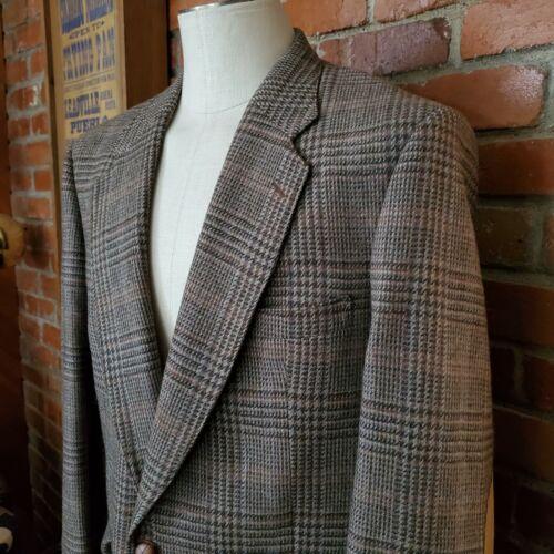 Vintage Towncraft Tweed Sport Jacket Elma Leather