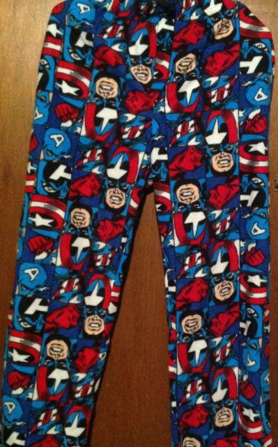 Men/'s  2 Piece Pajama PJ Set ~ CAPTAIN AMERICA  ~  Men/'s M  XXL 2XL  ~ NEW