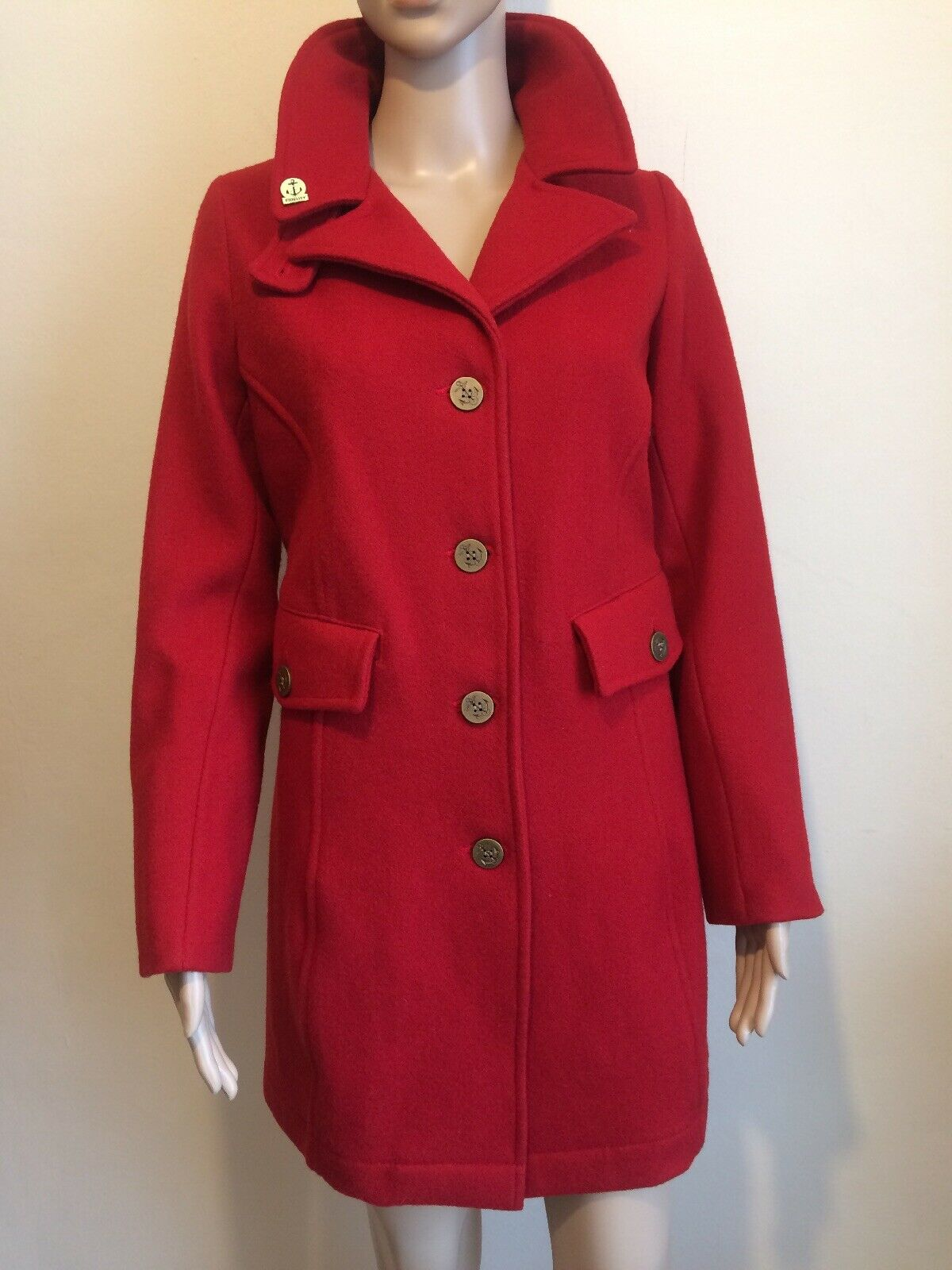 Fidelity Gerard & Stewart Barney NY Rouge Laine Manteau Taille S 10