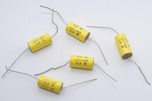 NOS 5x Vintage RFT MKT Audio Folien-Kondensator DDR Tube Amps 3.3 µF // 100 V