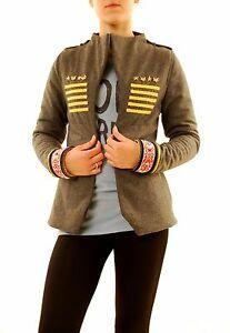 13244 Rrp Jacket En Military Kvinder S 380 Størrelse Filt Bcf611 Marle Grå Teskefuld qnaBa0A6