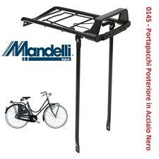 """0145 - Portapacchi Post. """"Viaggio"""" in Acciaio Nero per Bici 26"""" MTB Mountain Bik"""