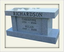 Granite cremation memorial bench up to 4 standard urns engraving available