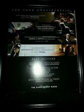 Batman The Dark Knight Rises Rare Academy Awards Promo Poster Ad Framed!