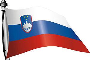 Slowenien-wehend-Flaggen-Auto-Caravan-Truck-Bus-Boot-Aufkleber