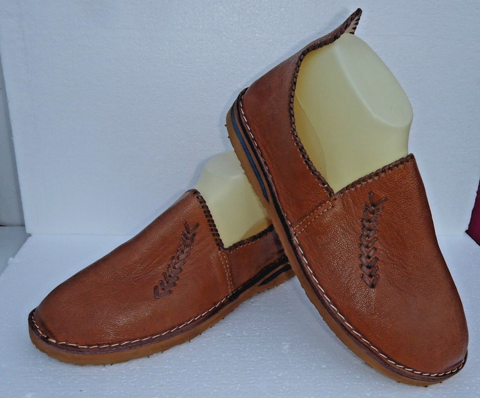 BEST QUALITY MgoldCCAN LEATHER BABOUCHE Slippers  TAN   ALL SIZES